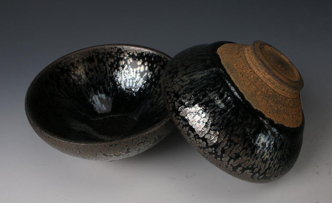 TWO HARE'S FUR BOWLS - 8