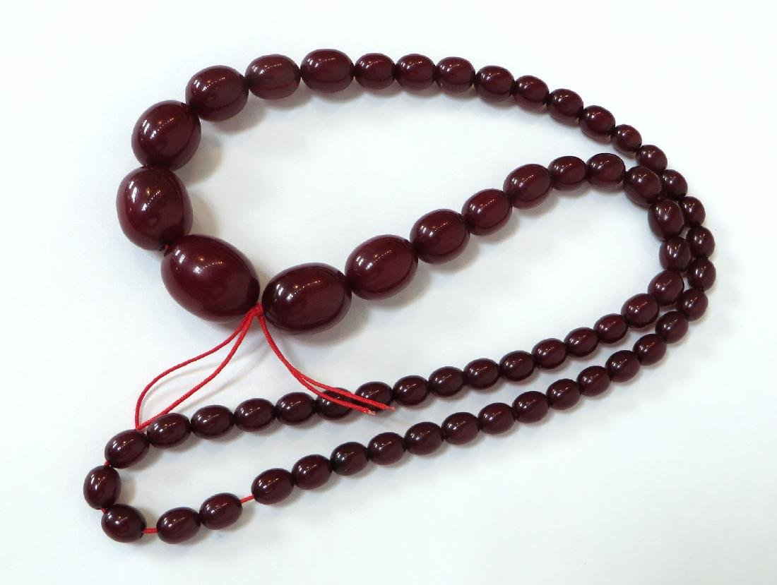 RED BEAD NECKLACE - 3