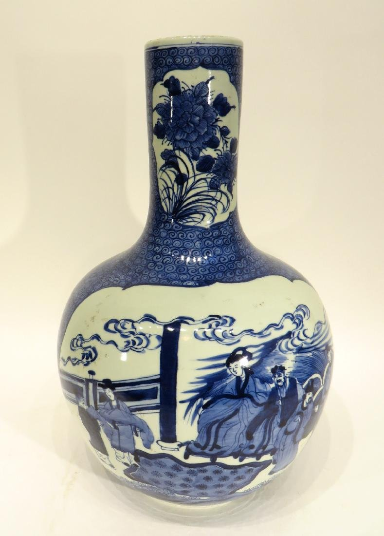 LARGE BLUE & WHITE VASE - 2