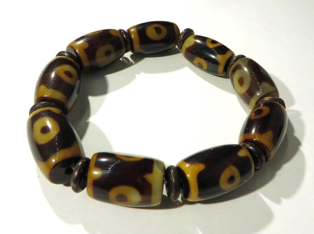 BROWN & YELLOW BEAD BRACELET