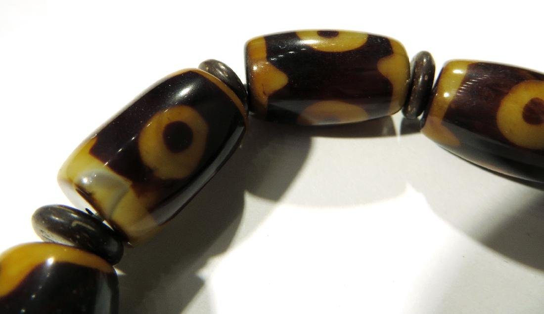 BROWN & YELLOW BEAD BRACELET - 2
