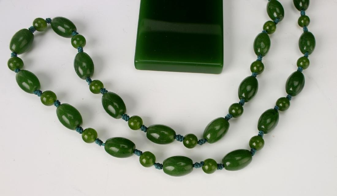 GREEN JADE PENDANT NECKLACE - 3