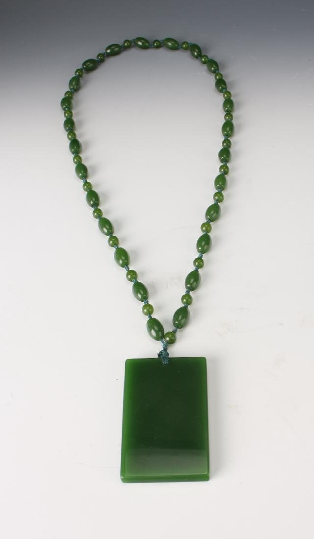 GREEN JADE PENDANT NECKLACE - 4