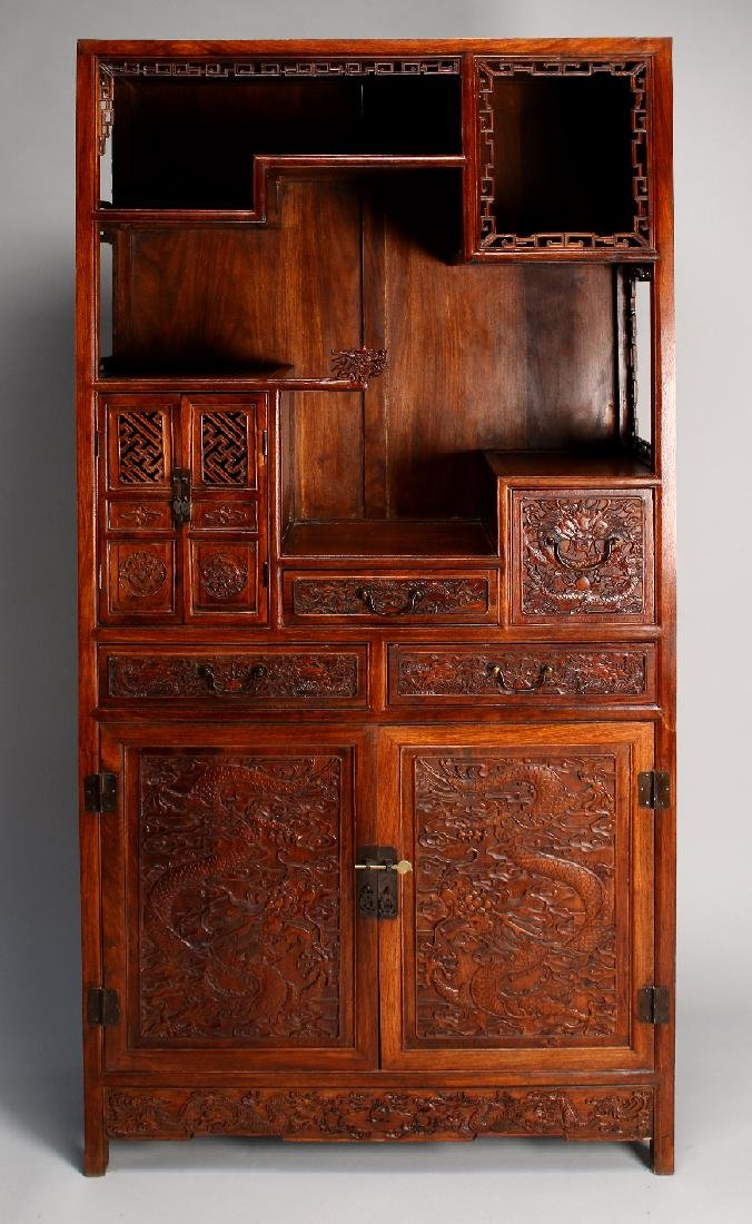 HUANGHUALI CABINET WITH TWO LARGE DOORS