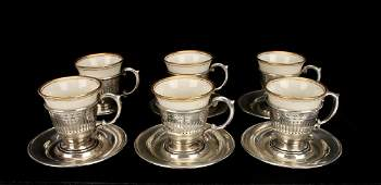 LENOX AND STERLING DEMITASSE SET