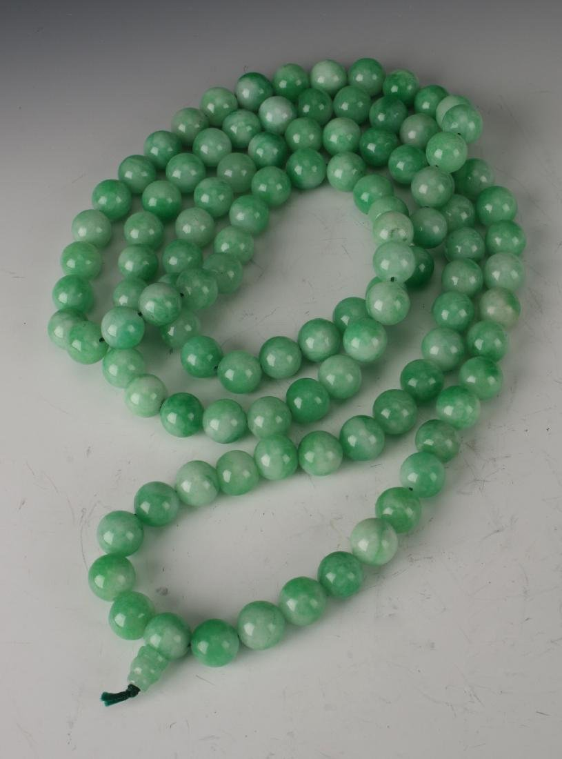 LIGHT GREEN JADE NECKLACE - 3