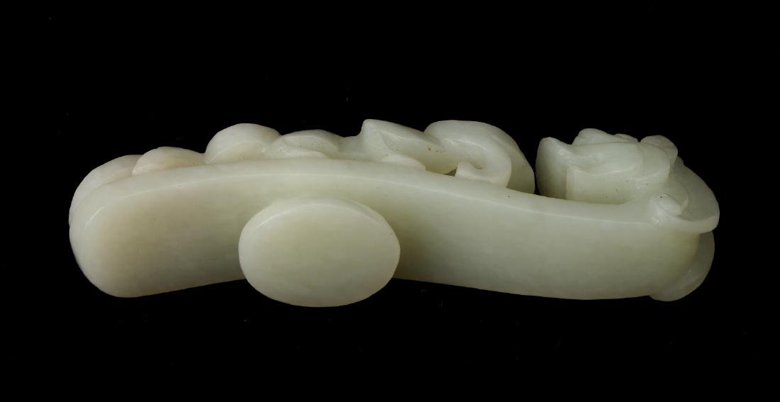 WHITE JADE BELT HOOK - 6