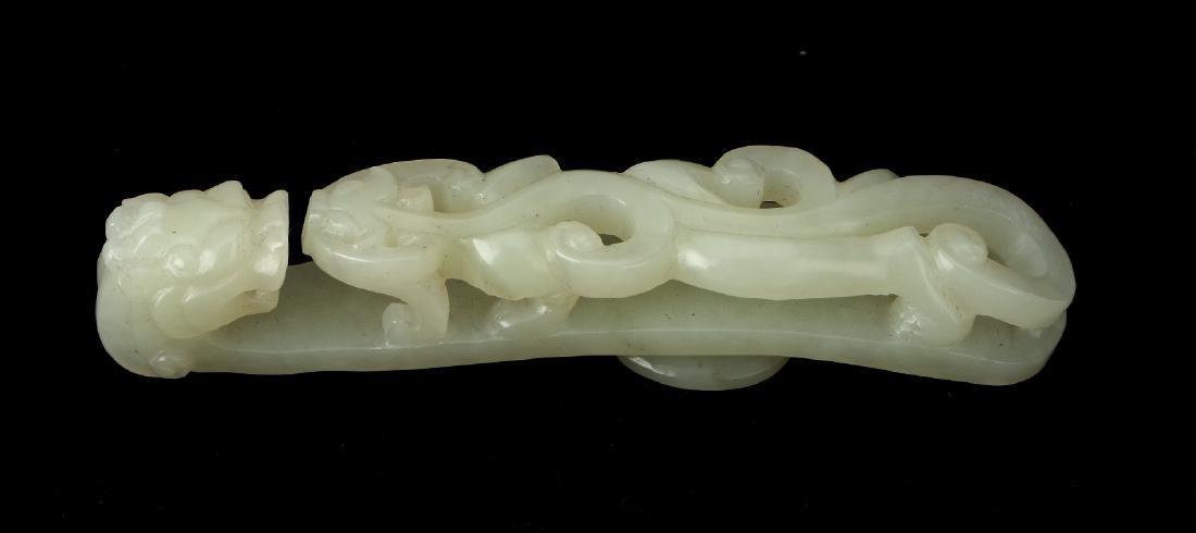 WHITE JADE BELT HOOK - 4