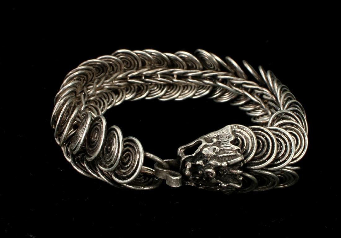 TIBETAN DRAGON CLASP BRACELET