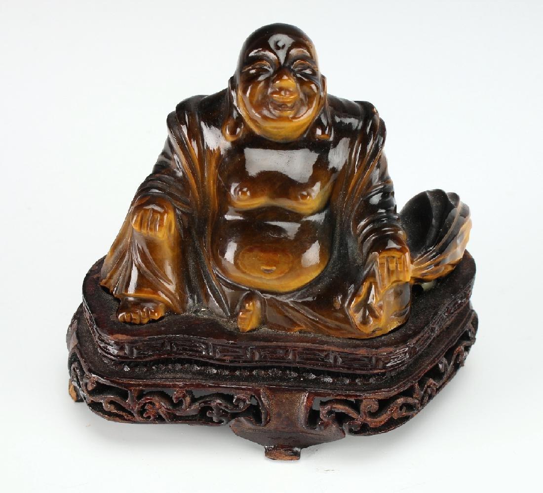 TIGER'S EYE CARVED BUDDHA