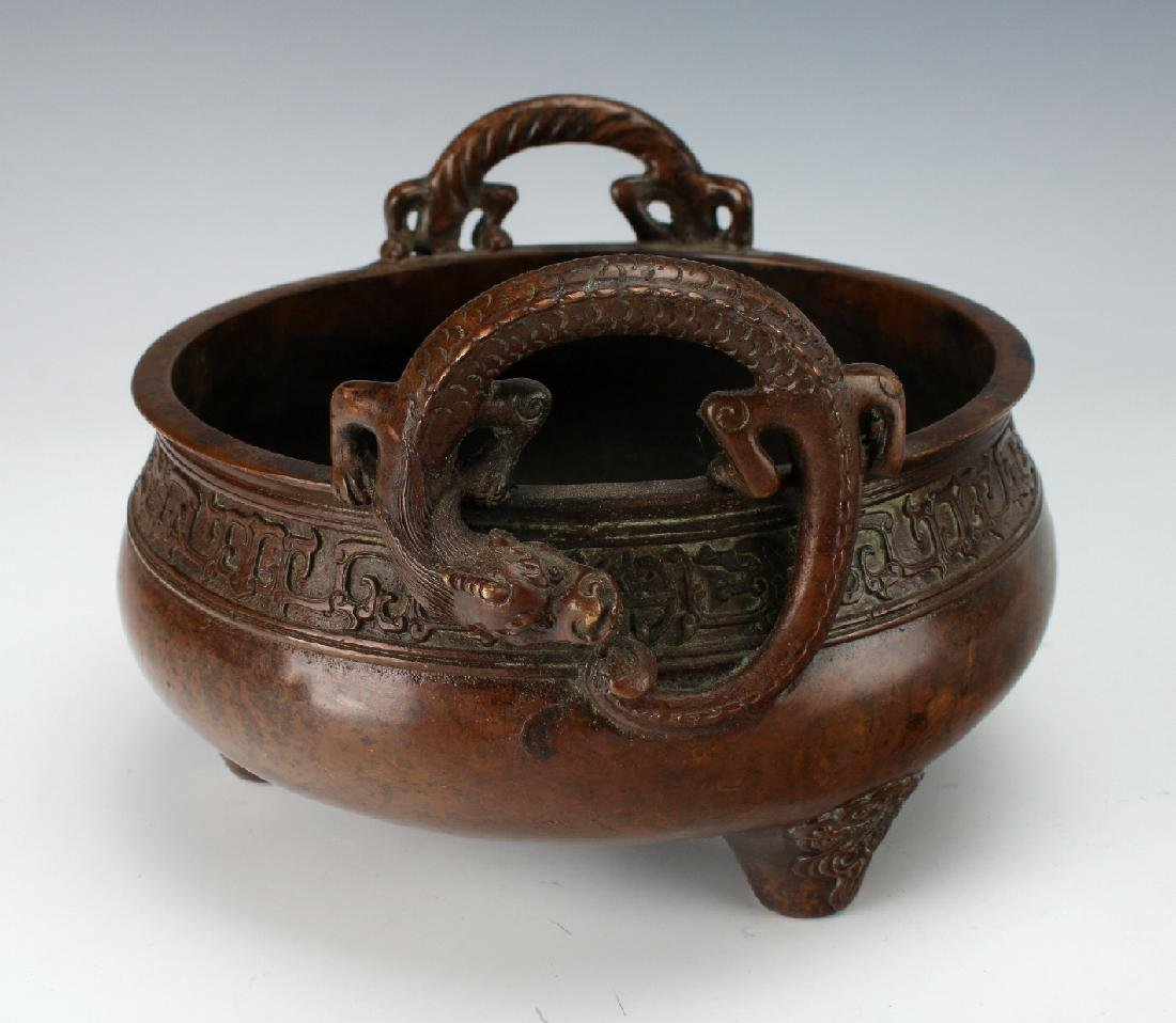 BRONZE DRAGON CENSER