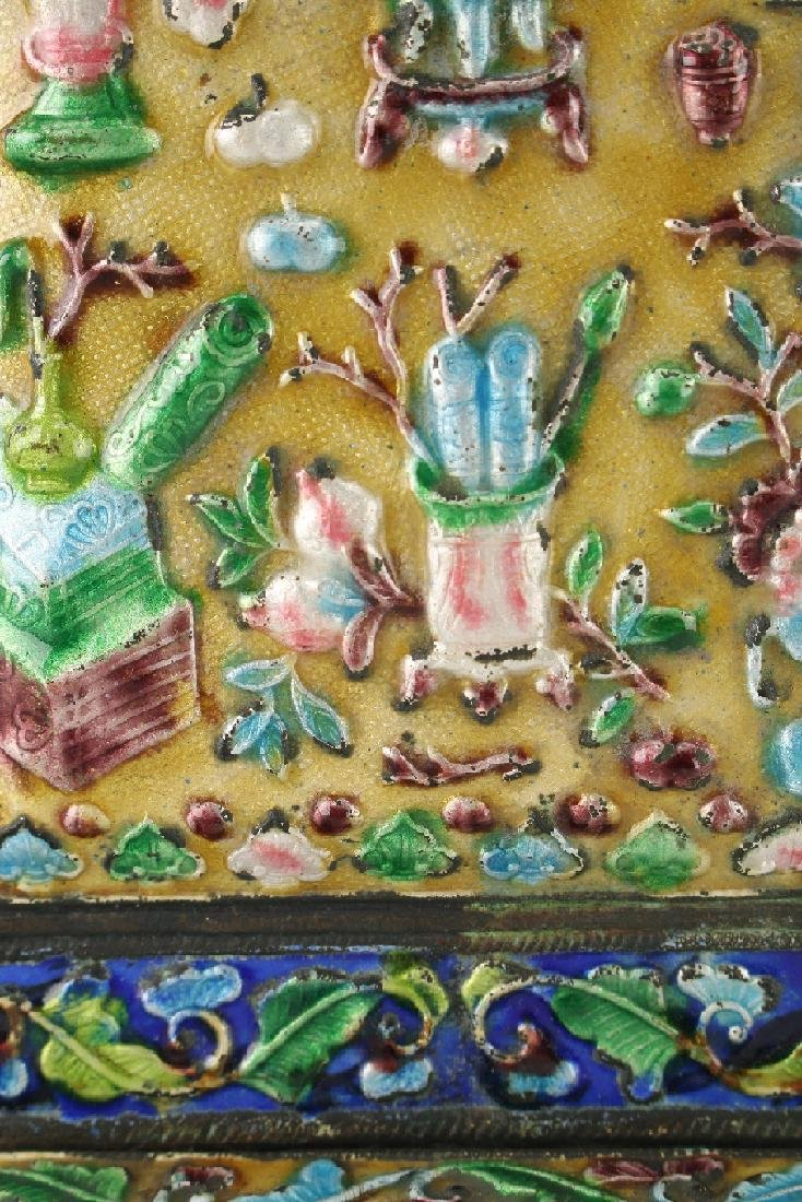 20TH CENTURY CHINESE ENAMEL BOOKENDS - 5
