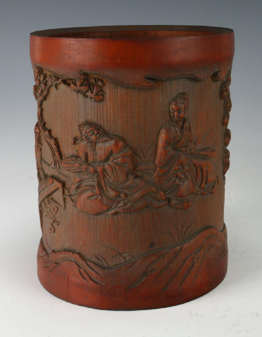 CARVED BAMBOO BRUSHPOT