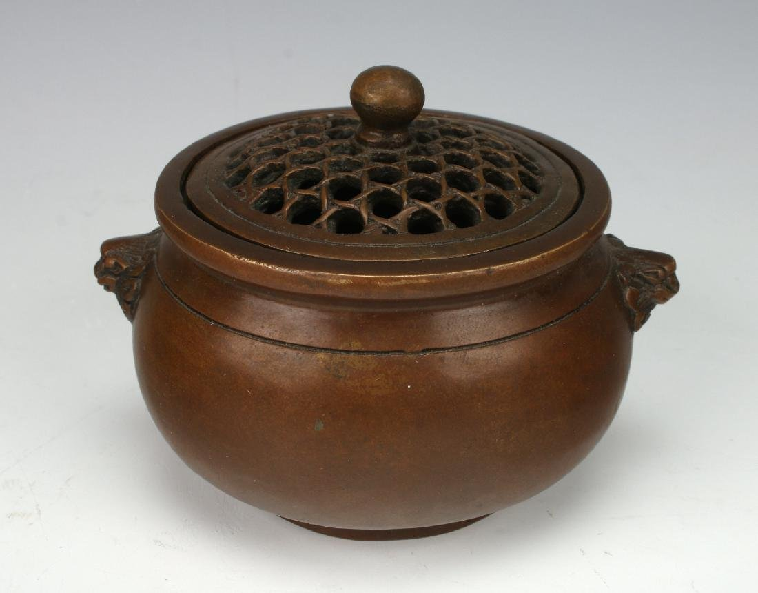 BRONZE CENSER WITH LID
