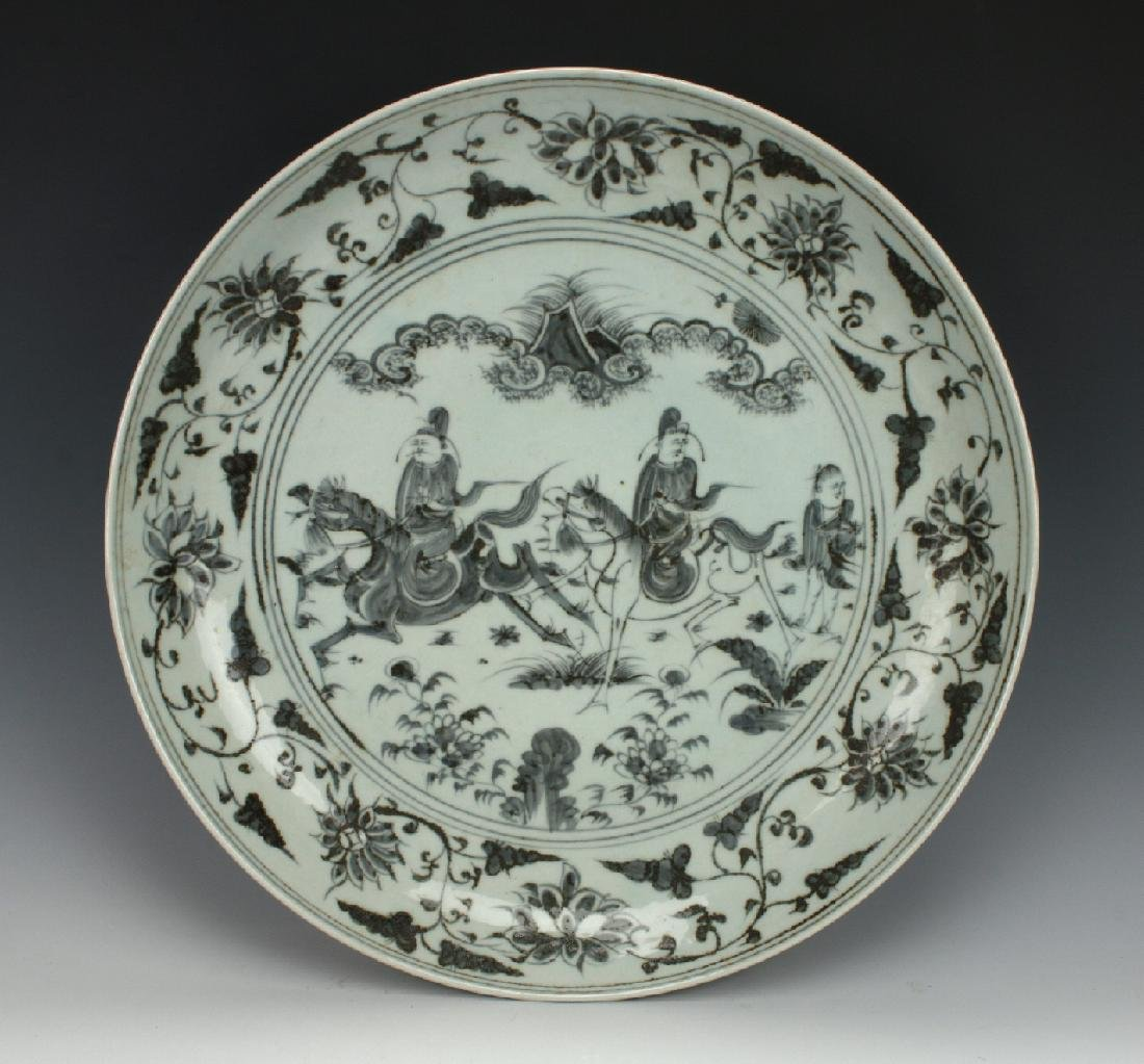 YUAN STYLE CHARGER WITH MOUNTED WARRIORS