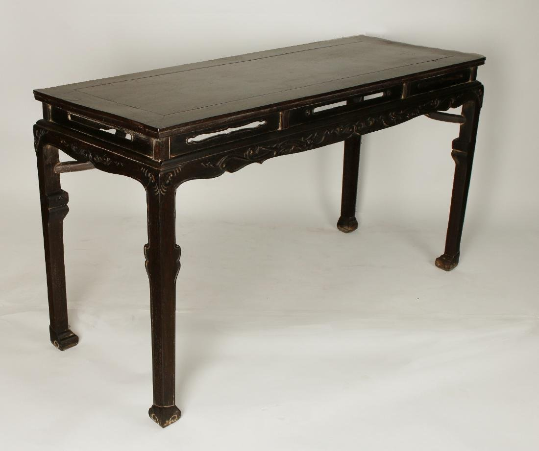 CARVED ZITAN PAINTING TABLE