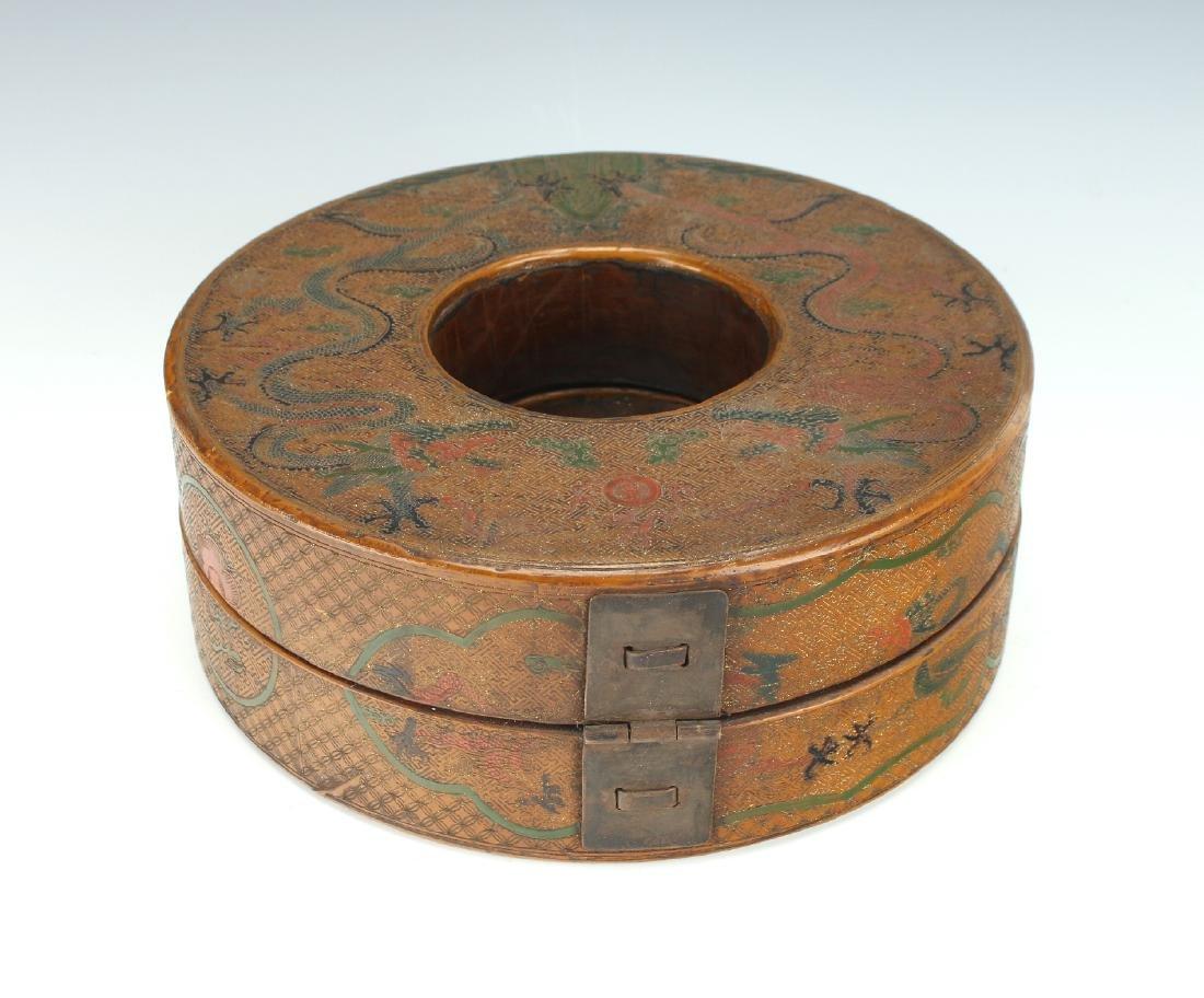 LACQUERED CHAO ZHU BOX - 4
