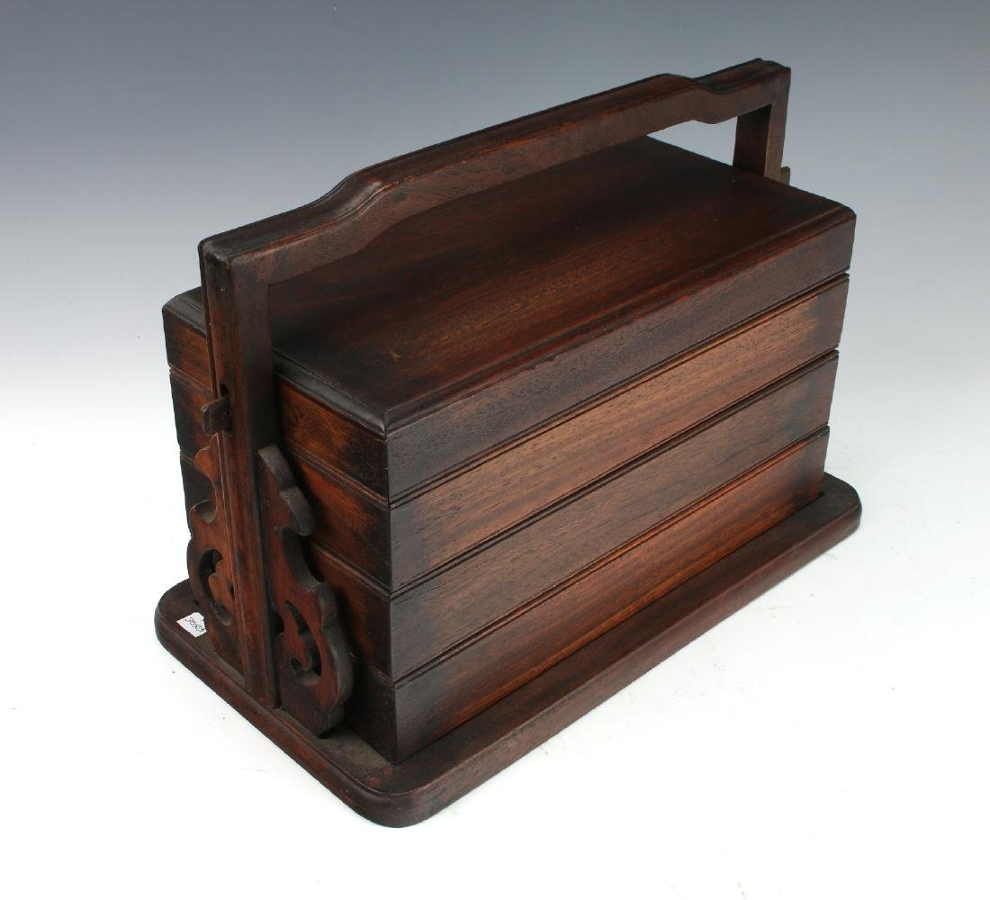 THREE TIER HUANGHUALI LUNCHBOX