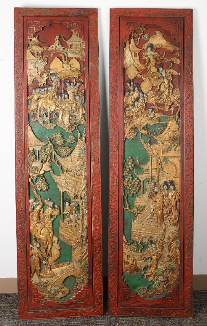 PAIR OF ANTIQUE CARVED DOORS