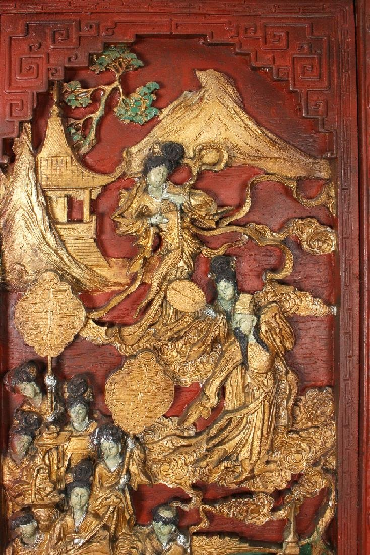 PAIR OF ANTIQUE CARVED DOORS - 4