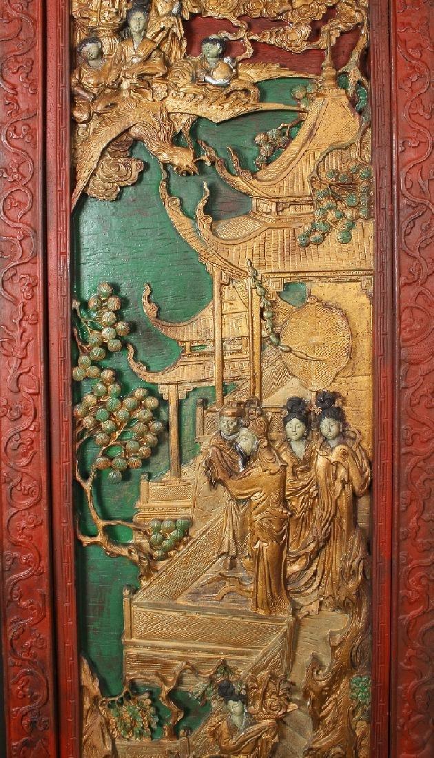 PAIR OF ANTIQUE CARVED DOORS - 6
