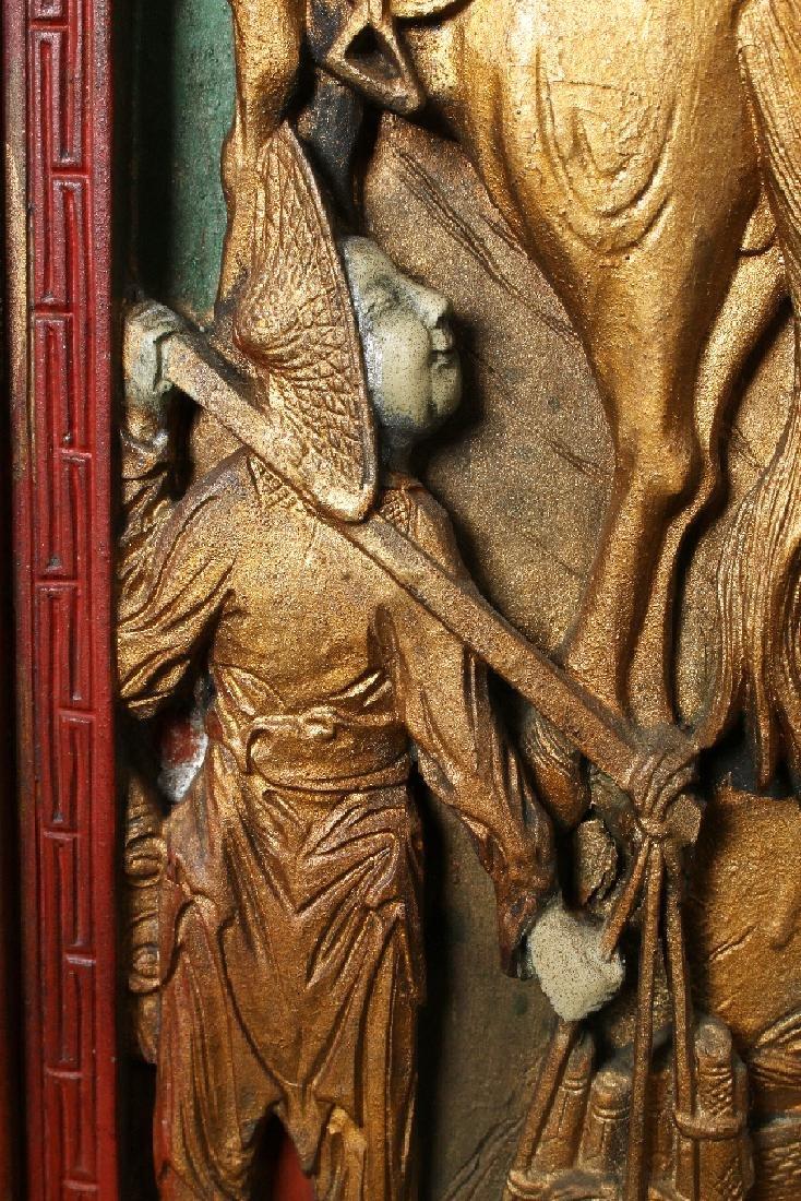 PAIR OF ANTIQUE CARVED DOORS - 8