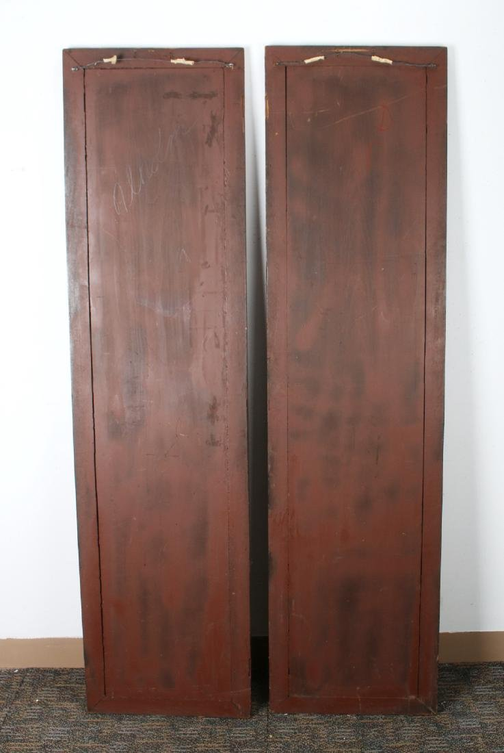 PAIR OF ANTIQUE CARVED DOORS - 9