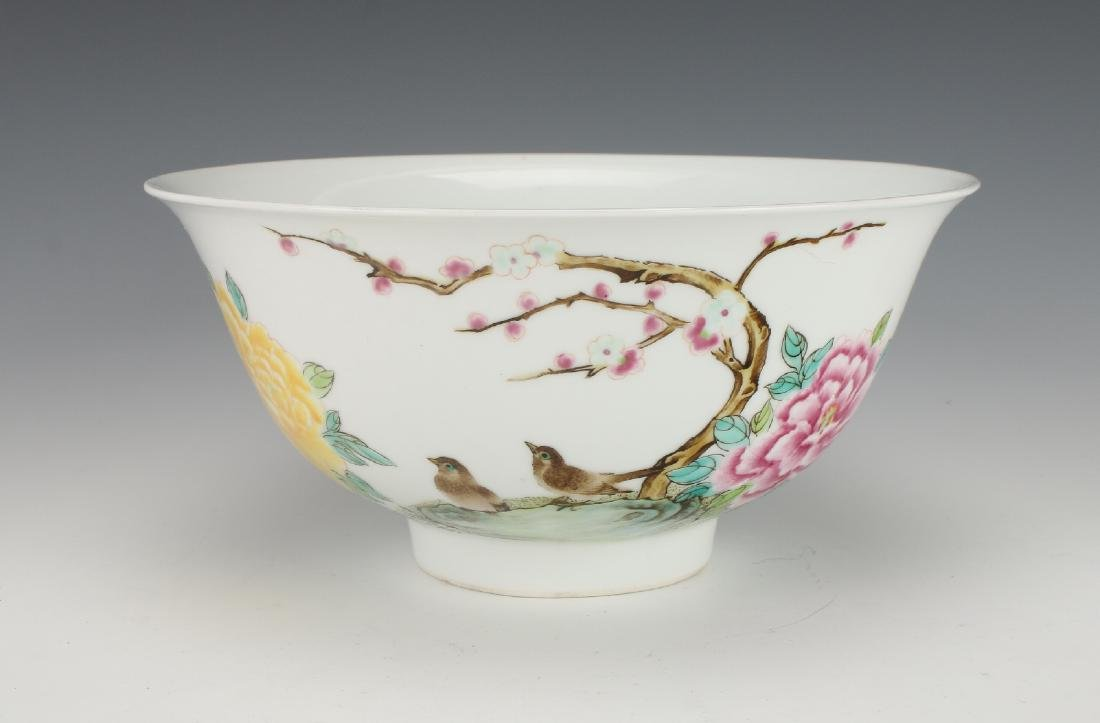 BOWL WITH FLOWERS AND BIRDS