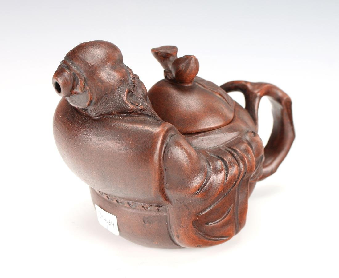 YIXING TEAPOT OF LUOHAN HOLDING PEACH - 6