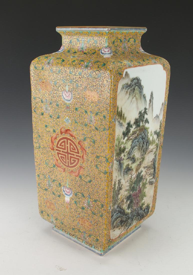 FAMILLE VASE WITH NATURE SCENES