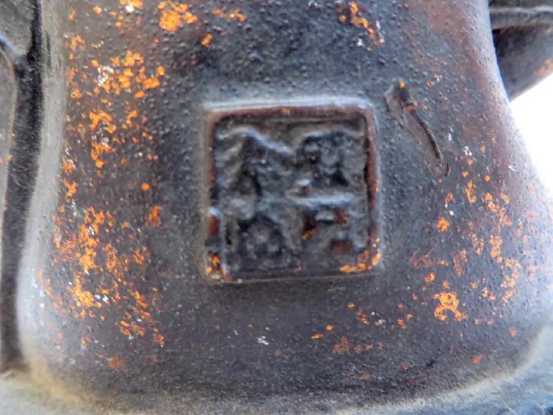 CAST BRONZE GILT DECORATED BUDDHA - 4