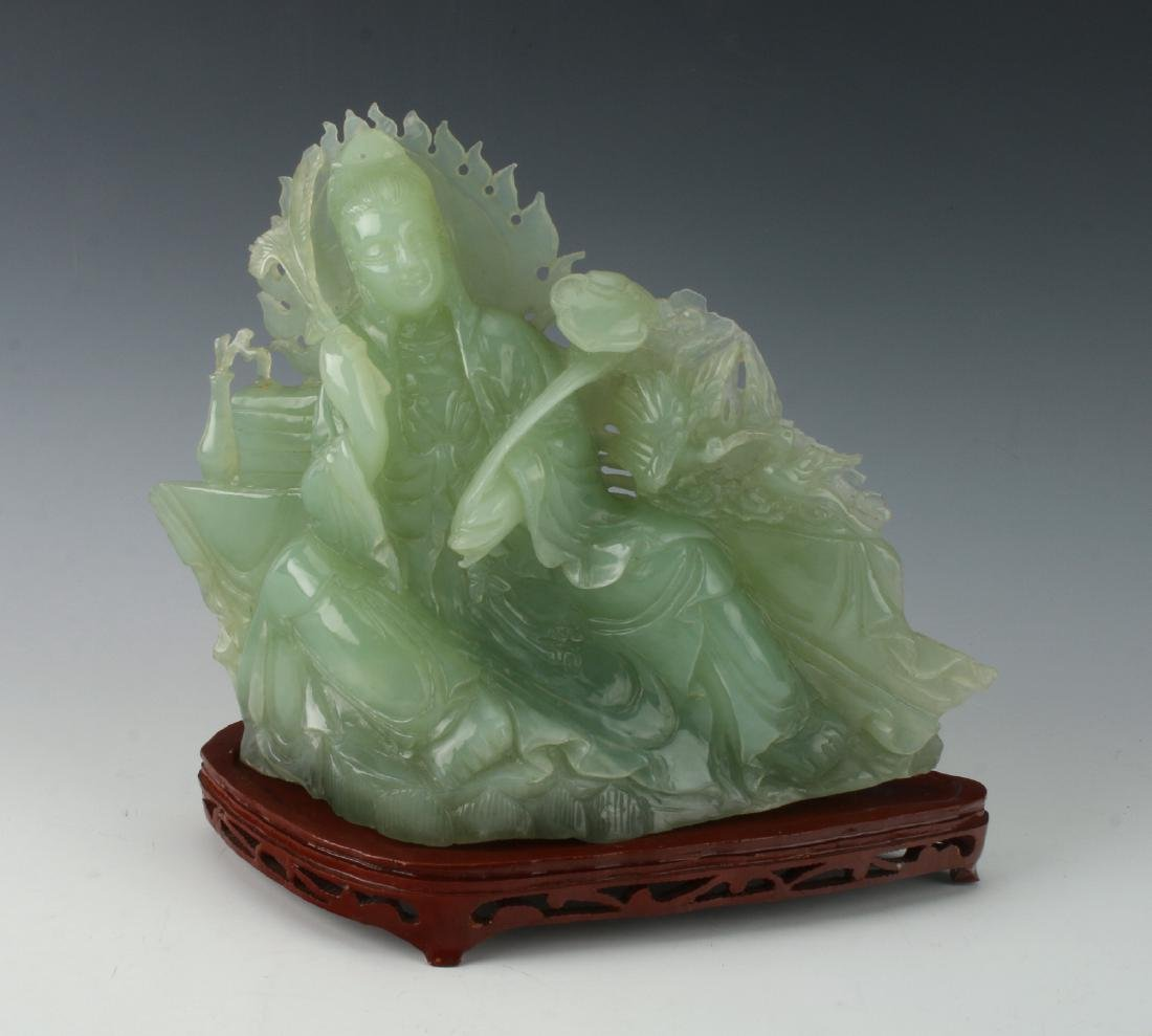 JADE QUAN YIN ON STAND