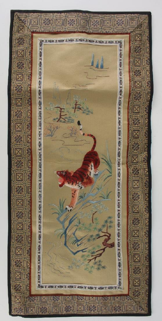 ASIAN SILK TIGER EMBROIDERY