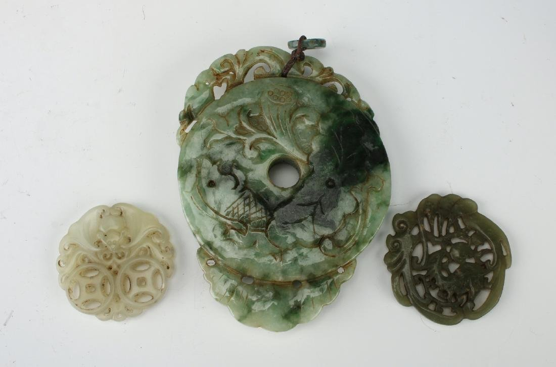EIGHT JADE PENDANTS - 2