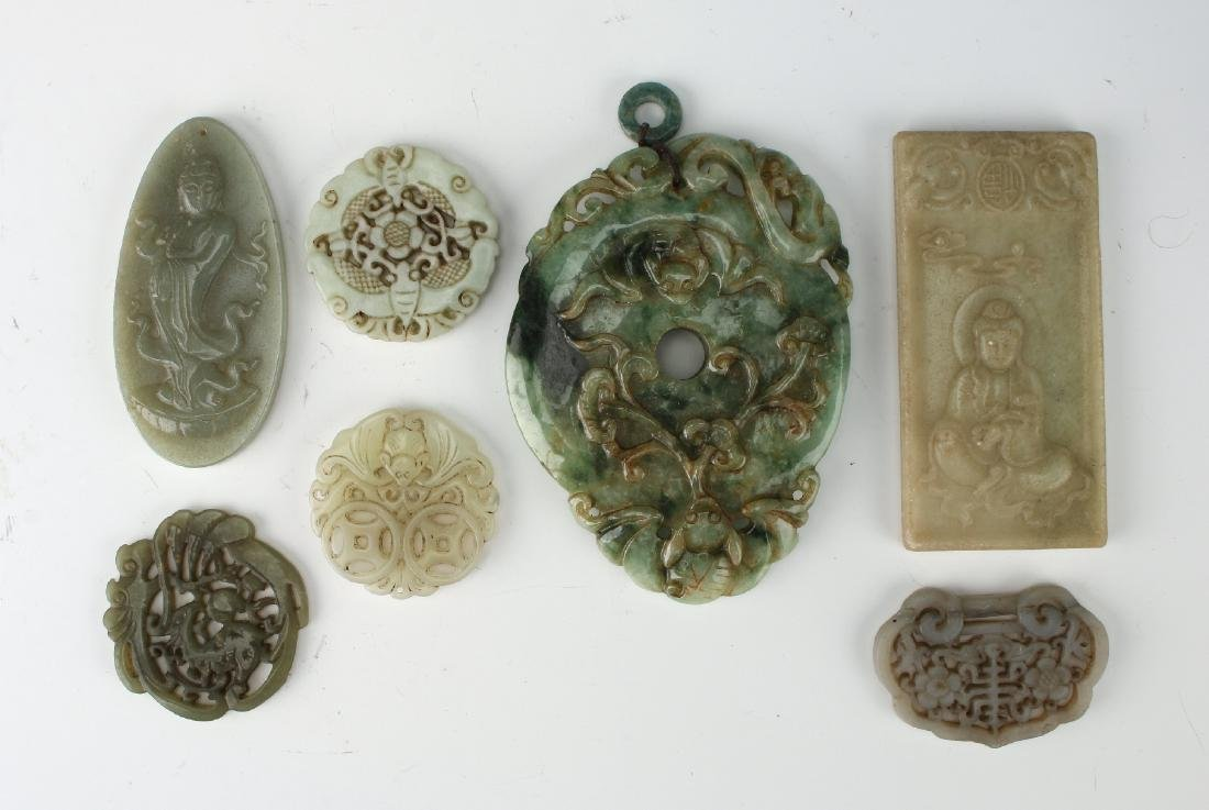 EIGHT JADE PENDANTS - 3