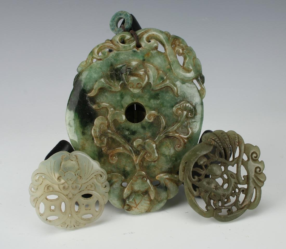 EIGHT JADE PENDANTS - 6