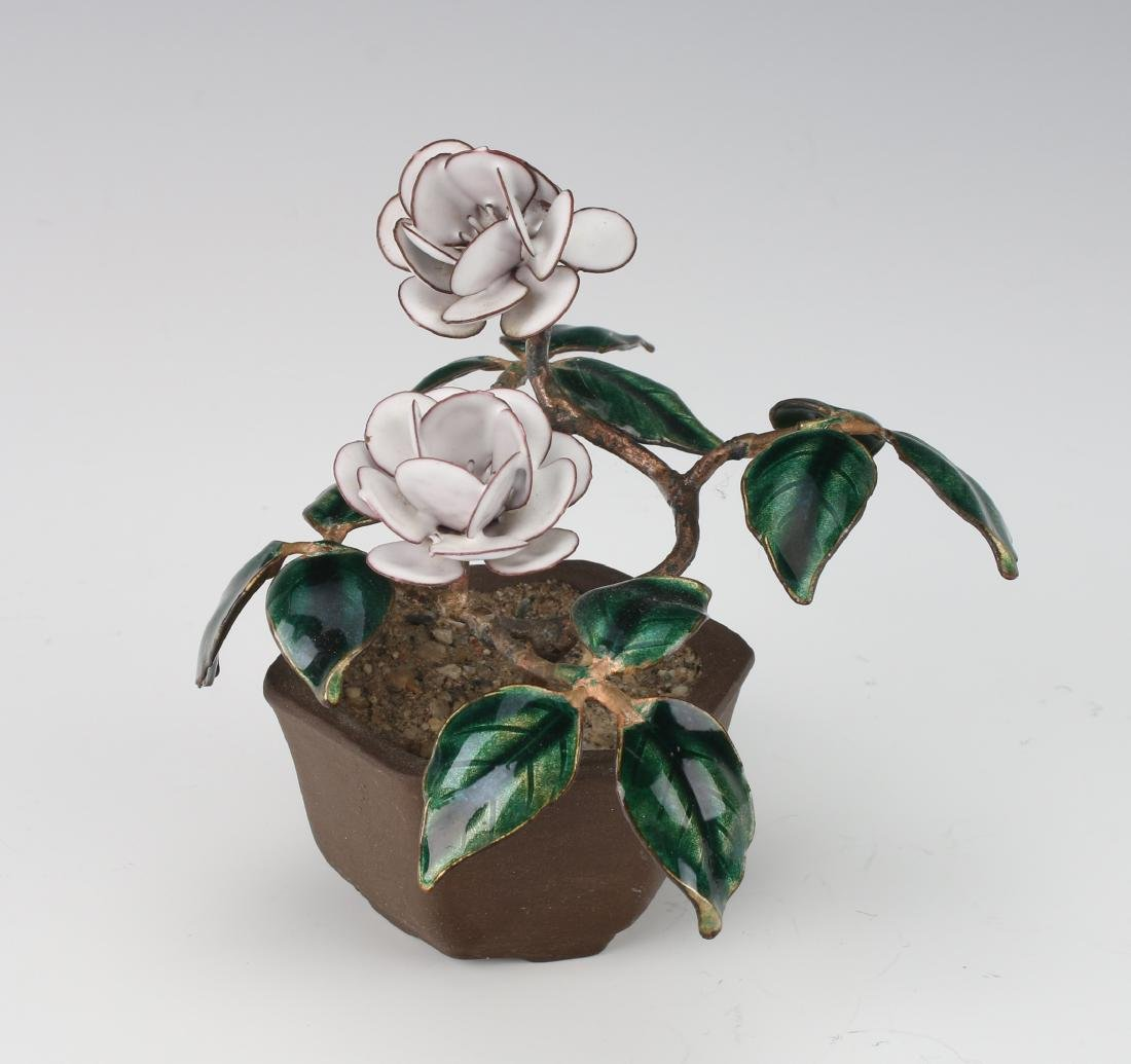 ENAMEL POTTED PLANT