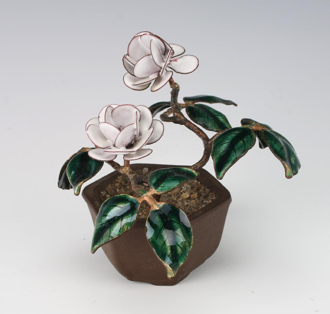 ENAMEL POTTED PLANT - 2