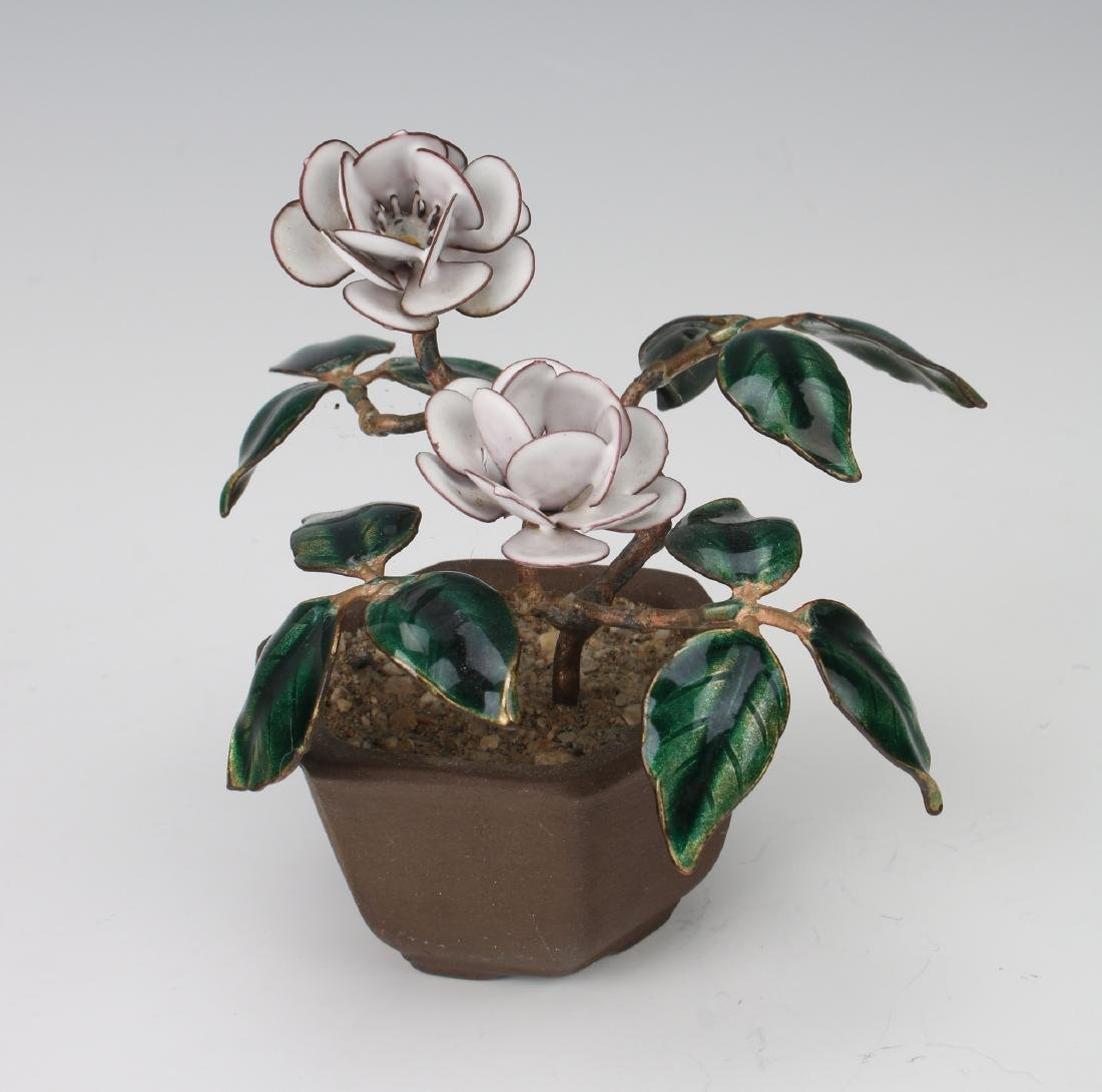 ENAMEL POTTED PLANT - 3