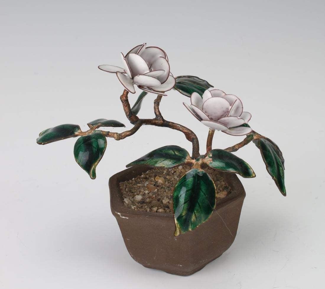 ENAMEL POTTED PLANT - 4