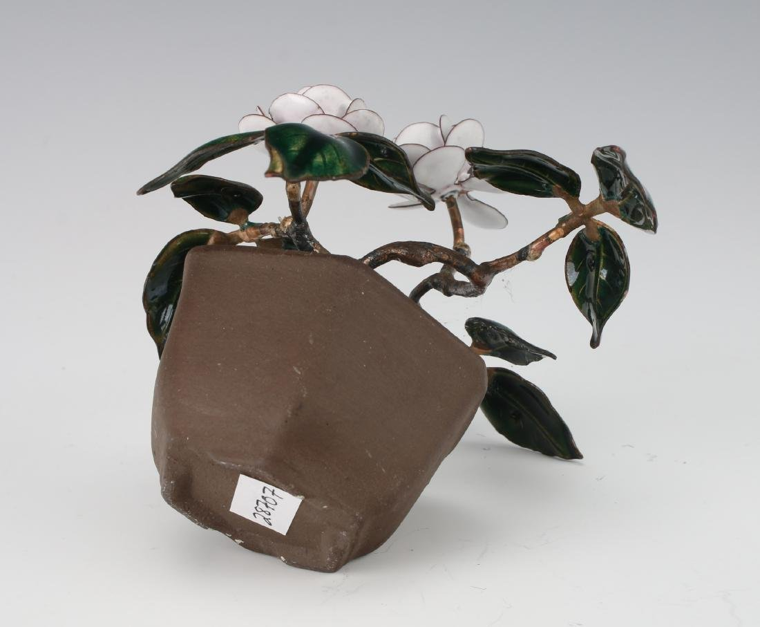 ENAMEL POTTED PLANT - 5