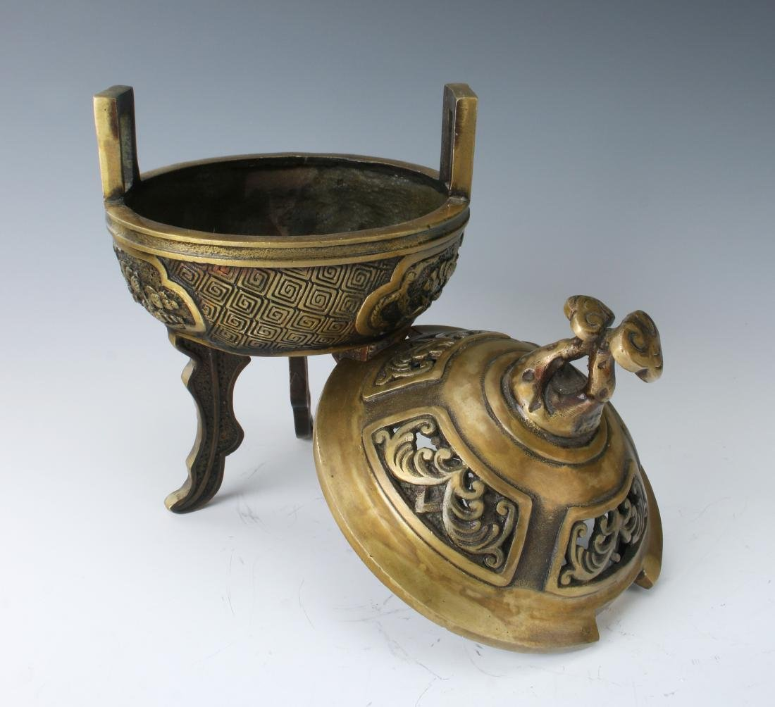 CHINESE METAL CENSER WITH LID - 4