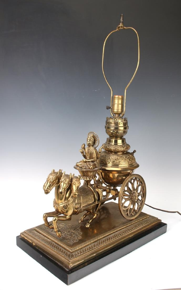 BUDDHA IN HORSE AND CARRIAGE LAMP