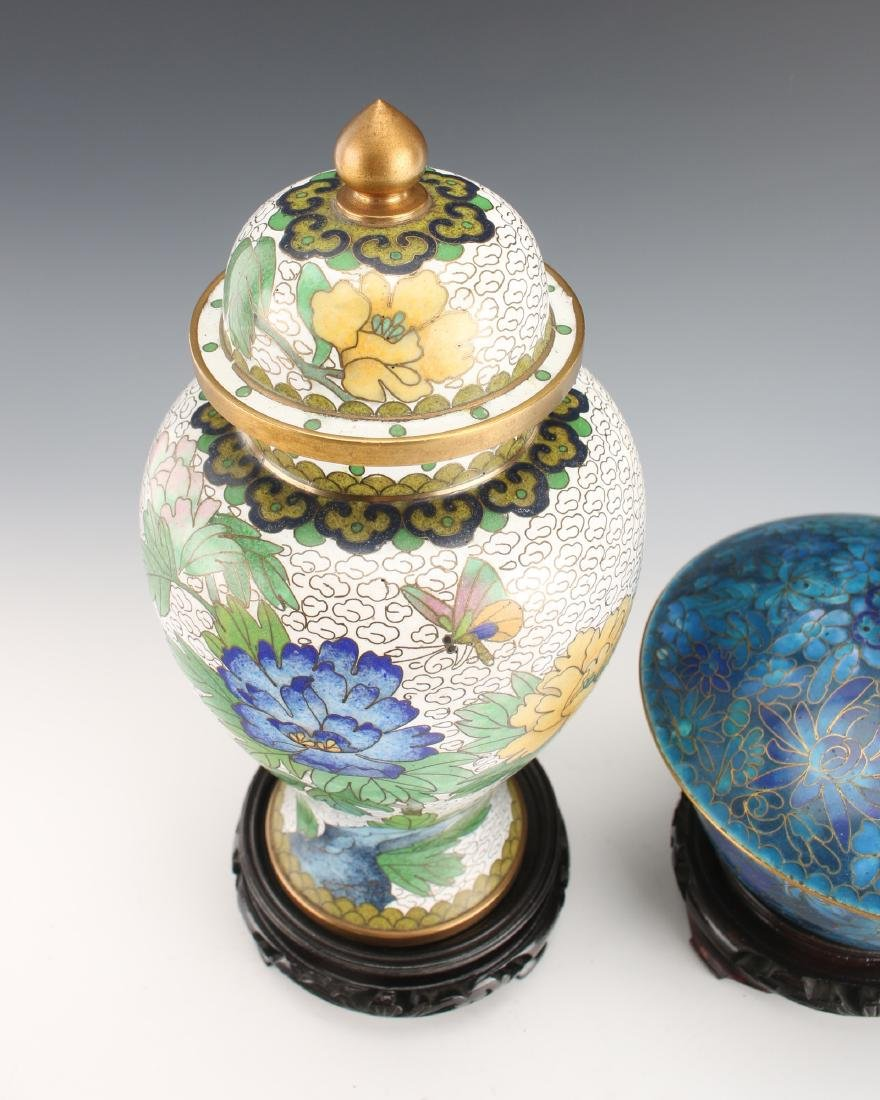TWO PIECES 20TH C CLOISONNE - 2