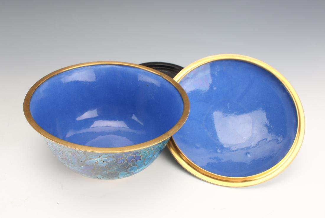 TWO PIECES 20TH C CLOISONNE - 7