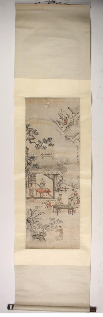 CHINESE SCROLL OF WORKERS DURING HARVEST SEASON - 2