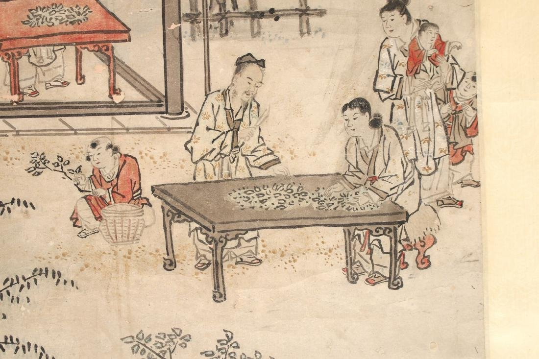 CHINESE SCROLL OF WORKERS DURING HARVEST SEASON - 4