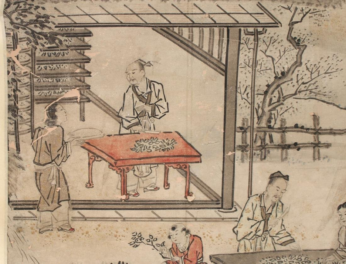 CHINESE SCROLL OF WORKERS DURING HARVEST SEASON - 5