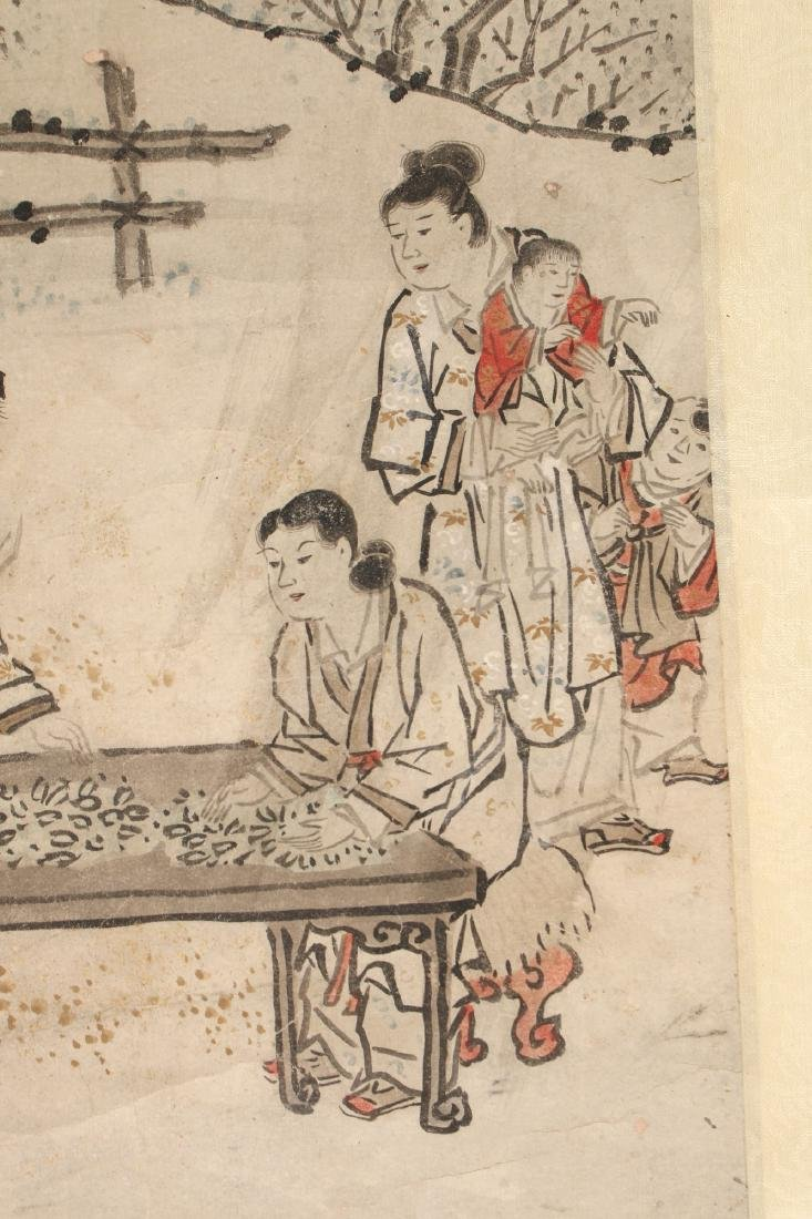 CHINESE SCROLL OF WORKERS DURING HARVEST SEASON - 6