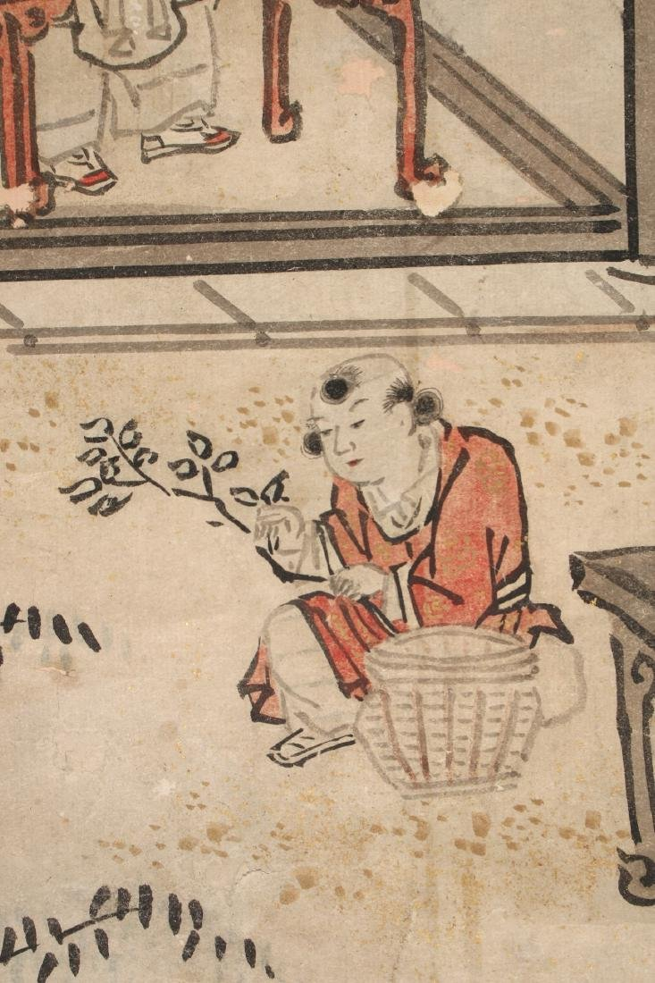 CHINESE SCROLL OF WORKERS DURING HARVEST SEASON - 7